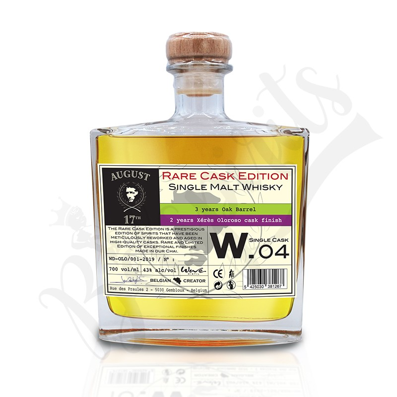 August 17th Whisky Rare Cask W.04 - Finition Olorosso