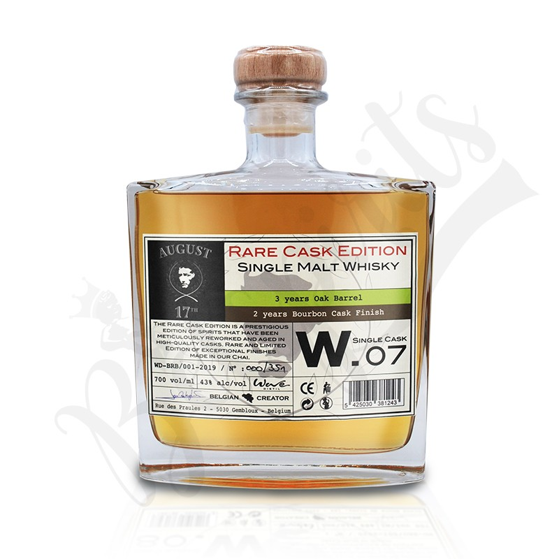 August 17th Whisky Rare Cask W.07 - Finition Bourbon