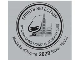 Zilveren medaille in 2020 - Concours Mondial de Bruxelles